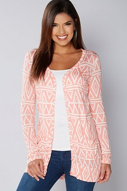Be You Boyfriend Cardigan - Coral