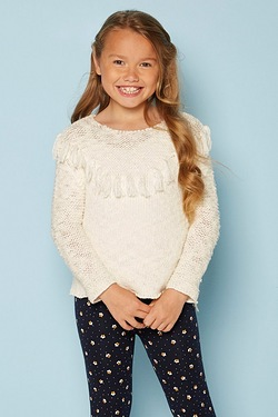Girls Fringe Jumper