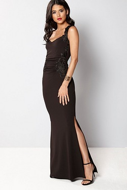 Lipsy Exclusive Lace Detail Fishtail Maxi Dress