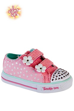 Girls Twinkle Toes Shuffles Darling Trainers