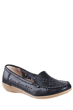Be You Leather Laser Cut Loafer Shoe