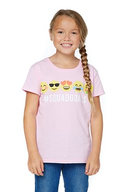 Girls SquadGoals Emoji T-Shirt
