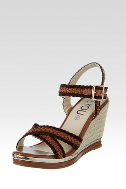 Be You Cross Over Wedge Sandal