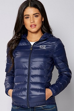 EA7 Hooded Lightweight Padded Jacket