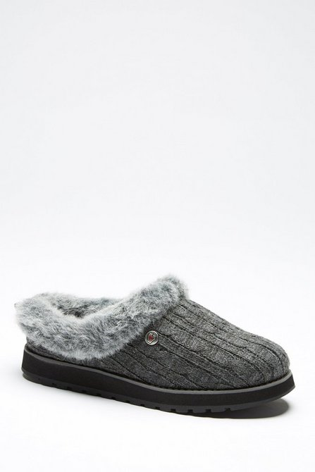 Skechers Keepsakes Cable Knit Slippers Studio
