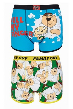 Family Guy Pull My Finger 2 Pack Boxers