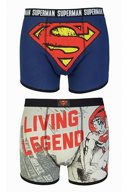 Superman Living Legend 2 Pack Boxer