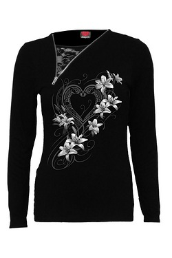 Pure Of Heart Slant Zip Neck Top
