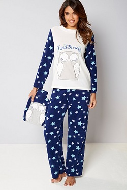 Pyjamas and Hot Water Bottle Set