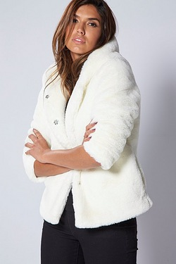Be You Hooded Fur Jacket
