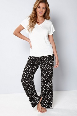 Viscose T-shirt Pyjama Set