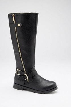 Be You Double Buckle Boot - Black