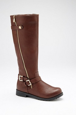 Be You Double Buckle Boot - Brown