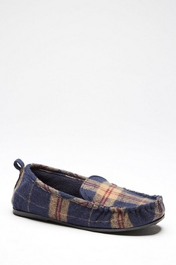 Dunlop Check Moccasin Slipper