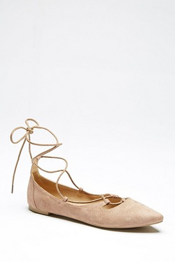 Be You Ghillie Lace Up Ballet Pump