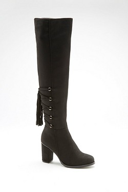 Be You Tassel Back Over The Knee Boot