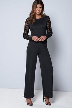 Be You Occasion Lace Detail Jumpsuit