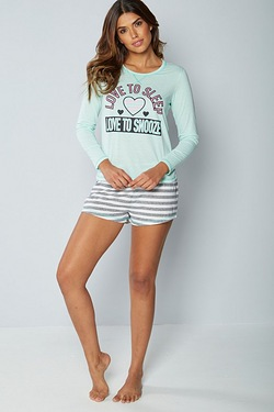 Love To Sleep Long Sleeve Shortie Set