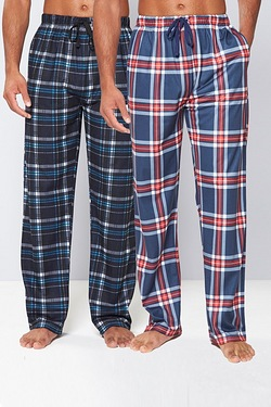 Pack Of 2 Soft Touch Check Lounge Pants