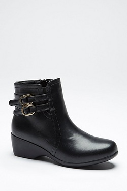 Be You Double Buckle Ankle Boot