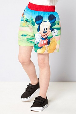 Boys Mickey Mouse Swim Shorts