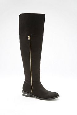 Be You Over The Knee Flat Boot With Zip