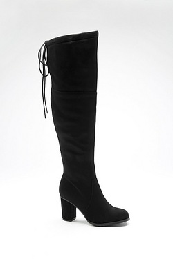 Be You Over The Knee Tie Top Boot