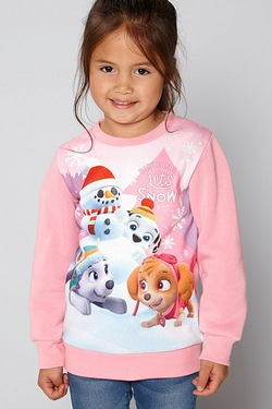 Girls Christmas Jumper - Paw Patrol