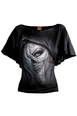 Dead Hand Bat Sleeve Top