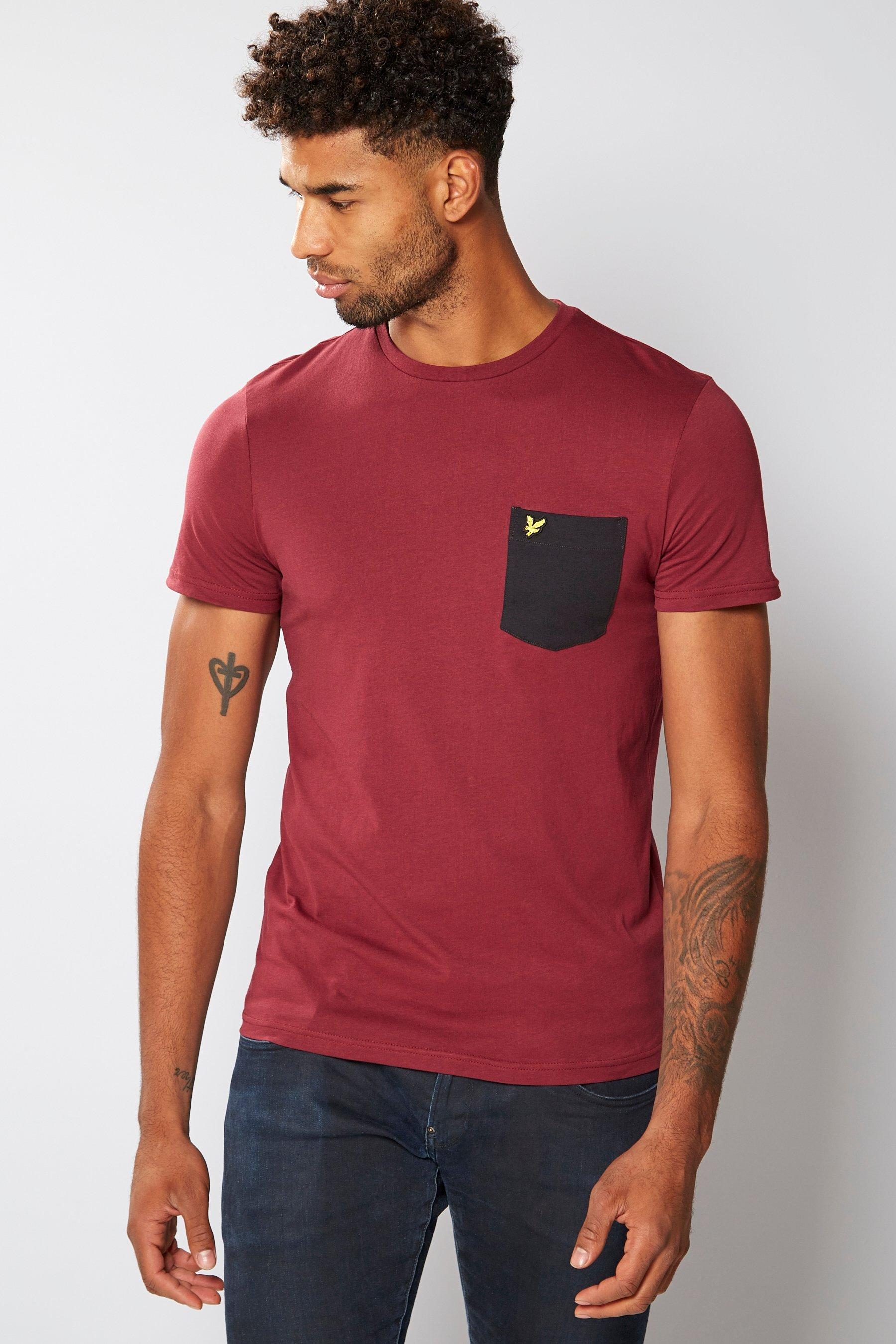 Lyle and Scott Red Pocket T-Shirt