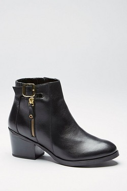 Be You Side Zip Buckle Top Ankle Boot
