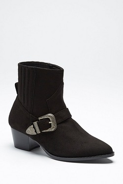Be You Western Trim Ankle Boot