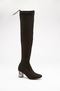 Be You Embellished Heel Over The Knee Boot