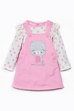 Baby Girls Super Cute Pinafore Set
