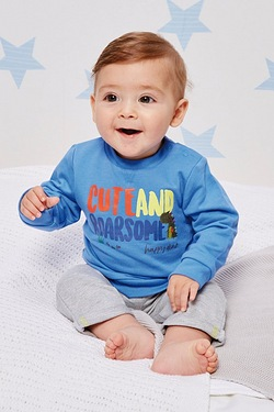 Baby Boys Cute Roarsome Sweat Set