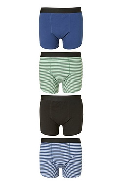 Twisted Gorilla Pack Of 4 Stripe Boxers