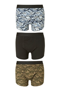 Twisted Gorilla Pack Of 3 Camo Boxers