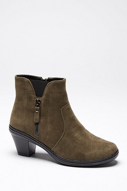 Cushion Walk Zip Side Ankle Boot
