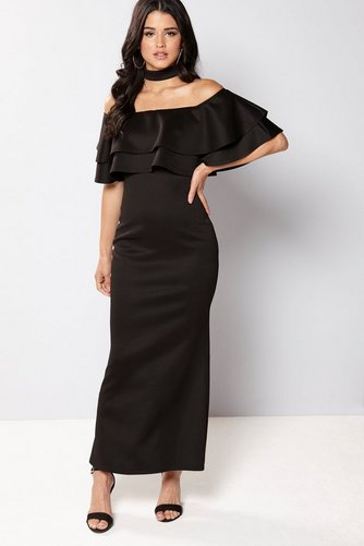 d779231dce Image for Club L Bardot Choker Double Frill Maxi Dress from studio
