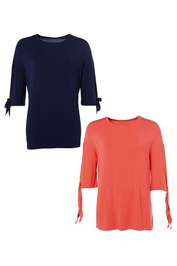 Be You Pack Of 2 Longline Tunic Tops