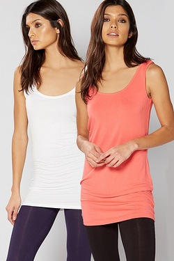 Be You Pack Of 2 String Longline Camis