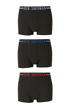 Ben Sherman Pack Of 3 Colourband Boxers