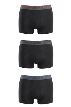 Ben Sherman Pack Of 3 Colour Band Boxers