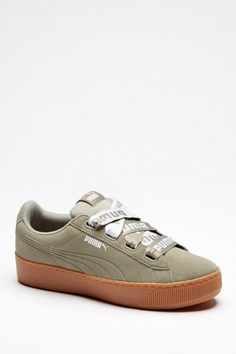 4fa6d2d9072 Image for Puma Vikky Platform Ribbon Trainers from studio