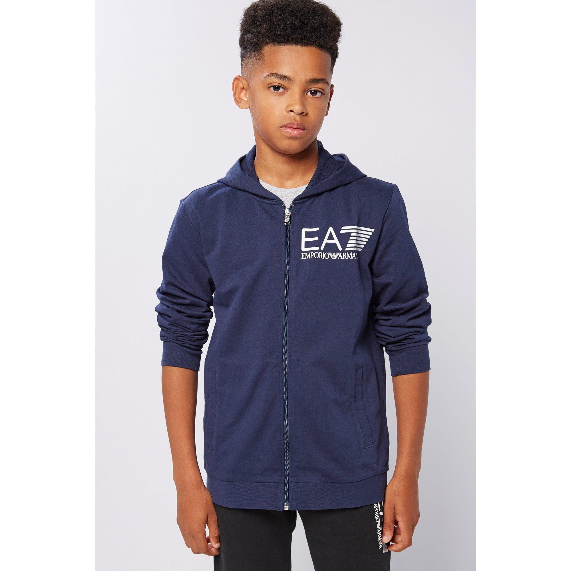 Image of Boys EA7 Visibility Zip Through Hoody