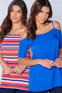Be You Pack of 2 Cold Shoulder Camis