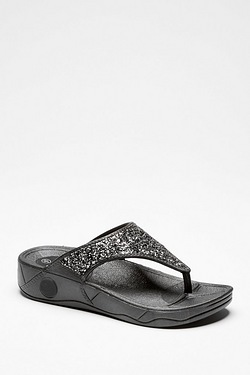 Be You Moulded Toe Post Glitter Sandal