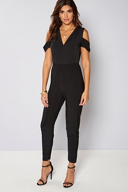 Be You Tab Sleeve Tapered Leg Jumpsuit