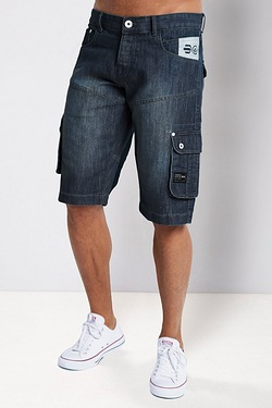 Crosshatch Denim Short