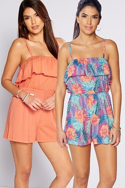 Be You Pack Of 2 Frill Playsuits